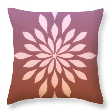 Throw Pillow featuring the digital art Star Flower Ombre  by Mindy Bench