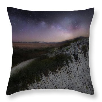 Throw Pillow featuring the photograph Star Flowers by Bill Wakeley