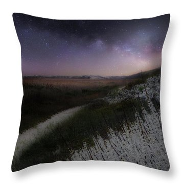 Throw Pillow featuring the photograph Star Flowers Square by Bill Wakeley