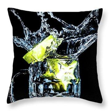 Star Fruit Splash Throw Pillow