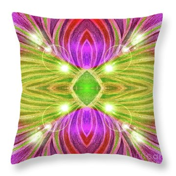 Star Gaze Throw Pillow by Rachel Hannah