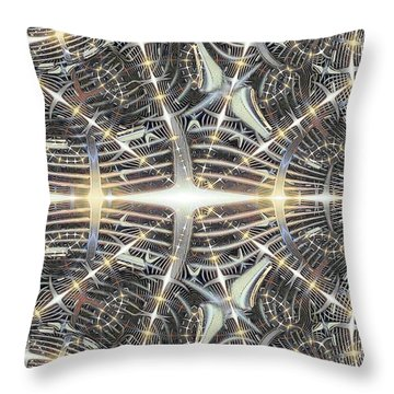 Star Grille Throw Pillow by Ron Bissett