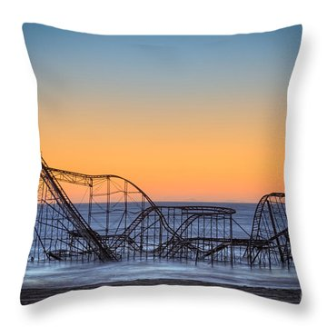 Star Jet Roller Coaster Ride  Throw Pillow