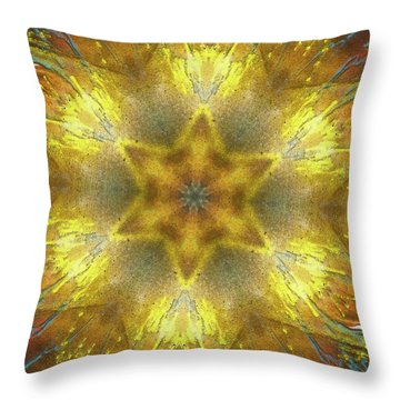 Star Kaleidoscope Throw Pillow