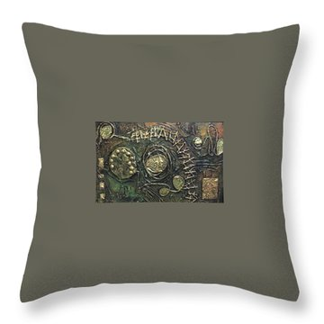 Throw Pillow featuring the painting Star Ladder by Bernard Goodman