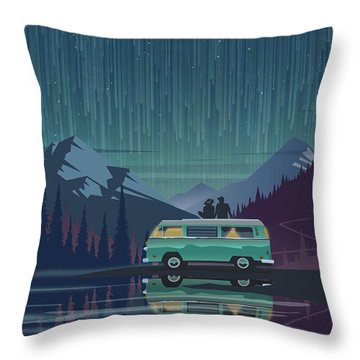 Star Light Vanlife Throw Pillow