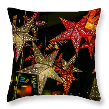 Star Lights Throw Pillow
