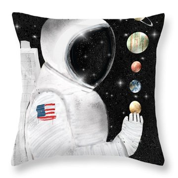 Throw Pillow featuring the painting Star Man by Bri B
