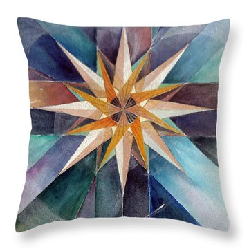 Star Mandala 2  Throw Pillow
