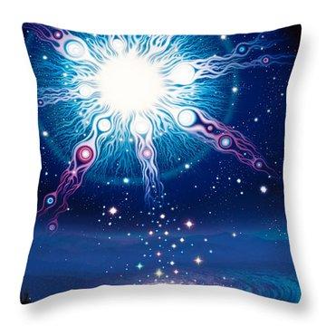 Star Matrix Throw Pillow