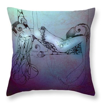 Star Mermaid Throw Pillow