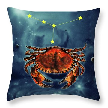 Star Of Cancer Throw Pillow