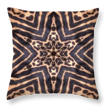 Star Of Cheetah Throw Pillow by Maria Watt