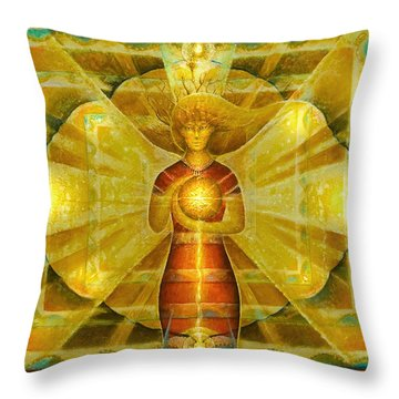 Star Of Venus Throw Pillow