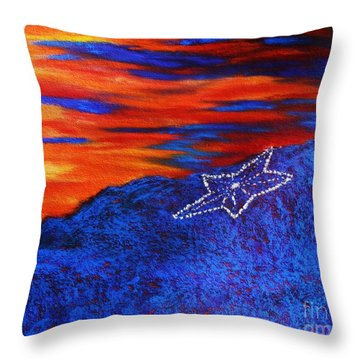 Star On The Mountain Throw Pillow