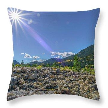 Star Over Creek Bed Rocky Mountain National Park Colorado Throw Pillow