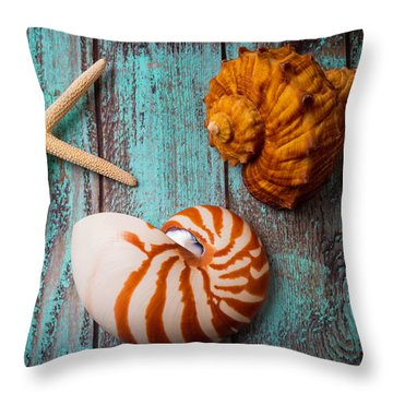 Star Shell Still Life Throw Pillow