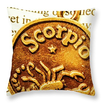 Star Sign In Scorpio Throw Pillow