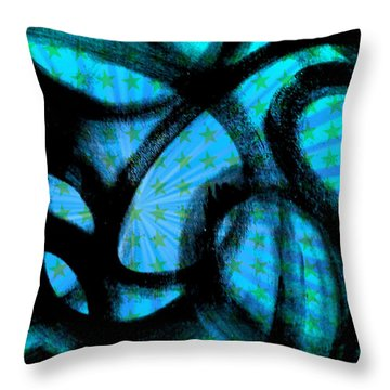 Throw Pillow featuring the digital art Star Soul by Lucia Sirna