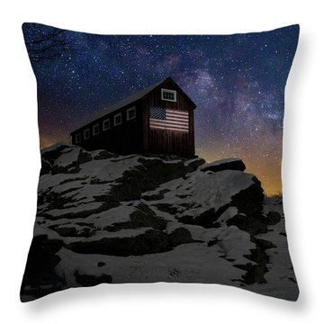 Throw Pillow featuring the photograph Star Spangled Banner by Bill Wakeley