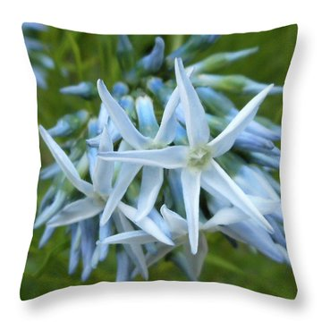 Star-spangled Flowers Throw Pillow