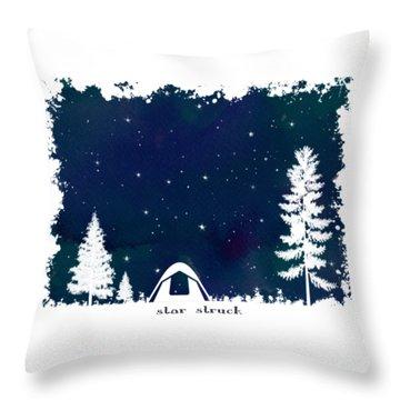 Throw Pillow featuring the digital art Star Struck by Heather Applegate
