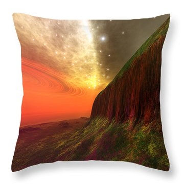 Star Stuff Throw Pillow by Corey Ford