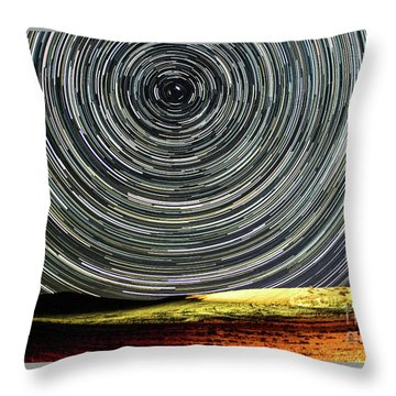 Star Trail Throw Pillow