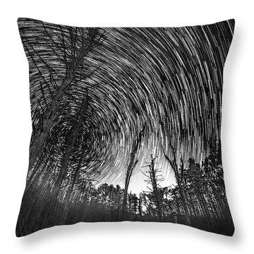Star Trails - Blue Ridge Parkway Throw Pillow