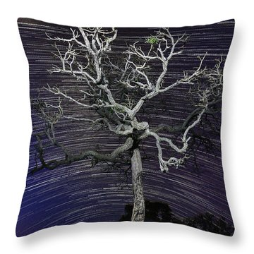 Star Trails In The Cerrado Throw Pillow by Gabor Pozsgai