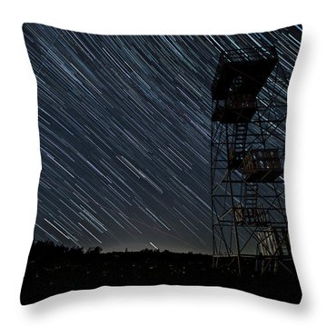 Star Trails Throw Pillow
