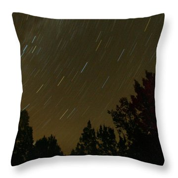 Star Tripping Throw Pillow by David S Reynolds