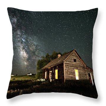 Star Valley Cabin Throw Pillow