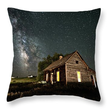 Star Valley Cabin Throw Pillow