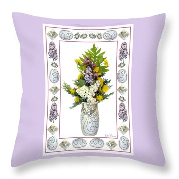 Throw Pillow featuring the photograph Star Vase With A Bouquet From Heaven by Lise Winne