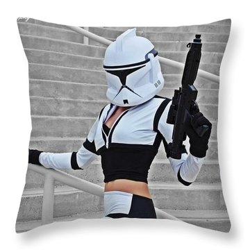 Star Wars By Knight 2000 Photography - Hello Guns Throw Pillow