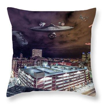 Throw Pillow featuring the photograph Star Wars Detroit by Nicholas Grunas