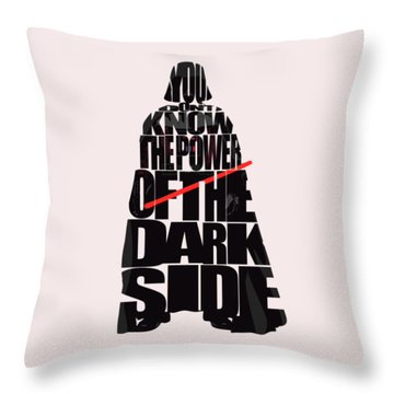 Star Wars Inspired Darth Vader Artwork Throw Pillow