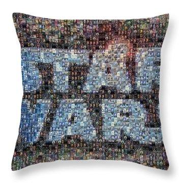 Star Wars Posters Mosaic Throw Pillow by Paul Van Scott