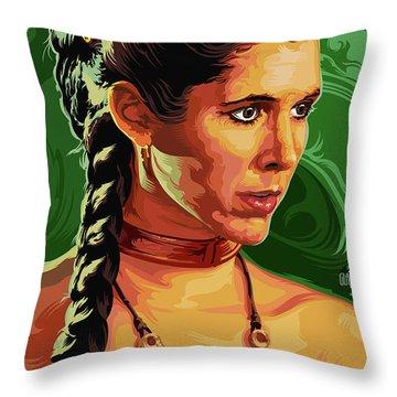Star Wars Princess Leia Pop Art Portrait Throw Pillow
