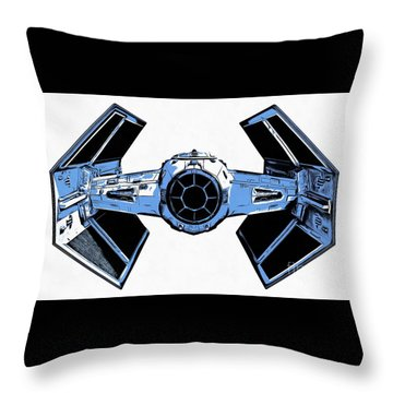 Star Wars Tie Fighter Advanced X1 Throw Pillow by Edward Fielding
