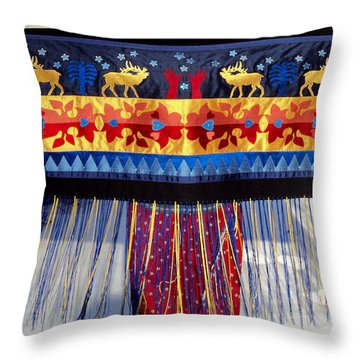 Throw Pillow featuring the tapestry - textile Star Whistling by Chholing Taha