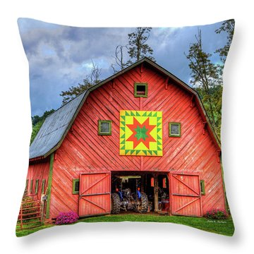 Star Within A Star Throw Pillow