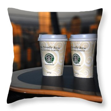 Starbucks At The Top Throw Pillow by David Lee Thompson