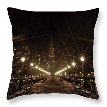 Throw Pillow featuring the photograph Starburst Lights by Chris Cousins