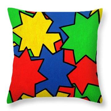 Starburst Throw Pillow by Oliver Johnston