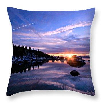 Starburst Throw Pillow by Sean Sarsfield