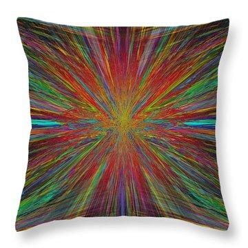 Starburst Throw Pillow by Tim Allen