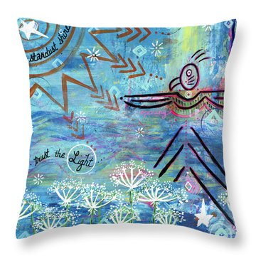 Stardust Shines Throw Pillow