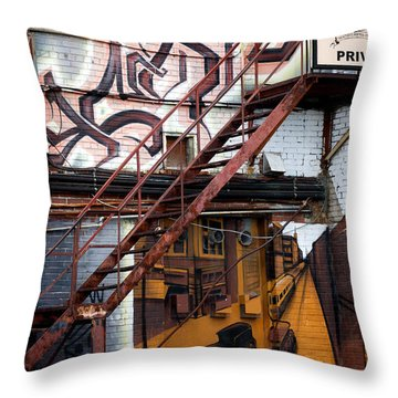 Stare Stair Throw Pillow